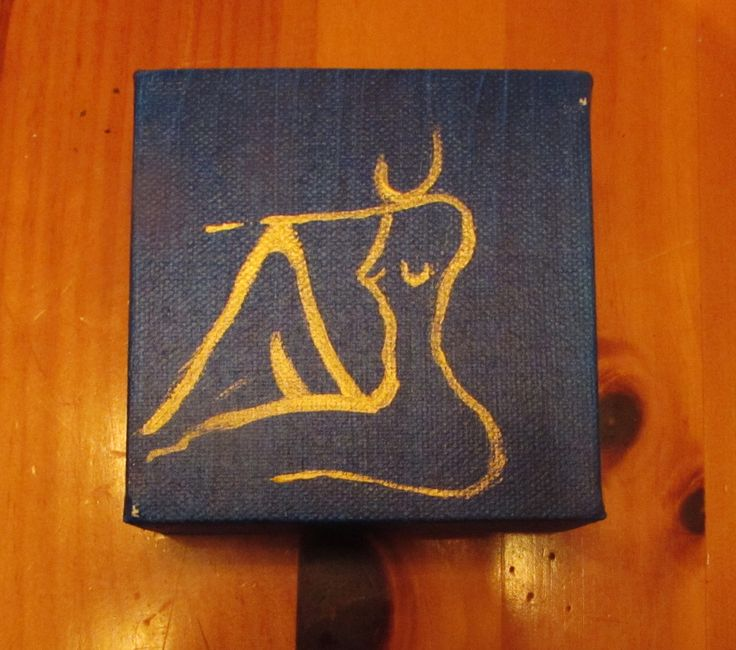 body love blue acrylic art! ShelbyRobbins.com Mini canvas sexy spa art