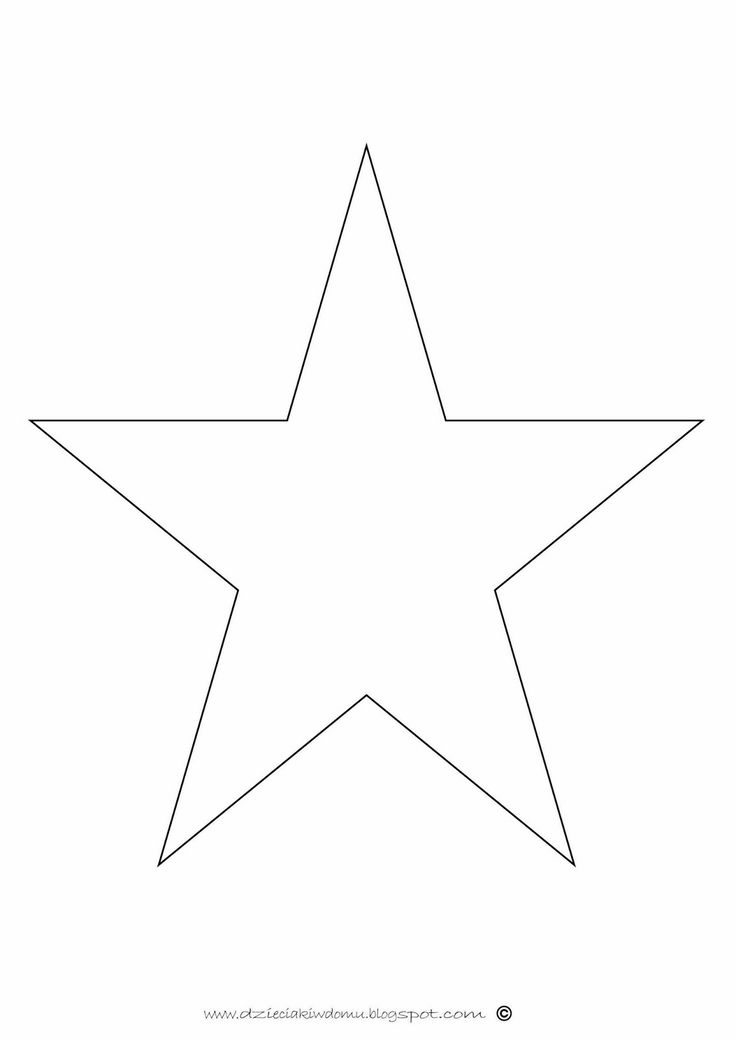 czarno-białe obrazy dla niemowlaka - gwiazda - szablon