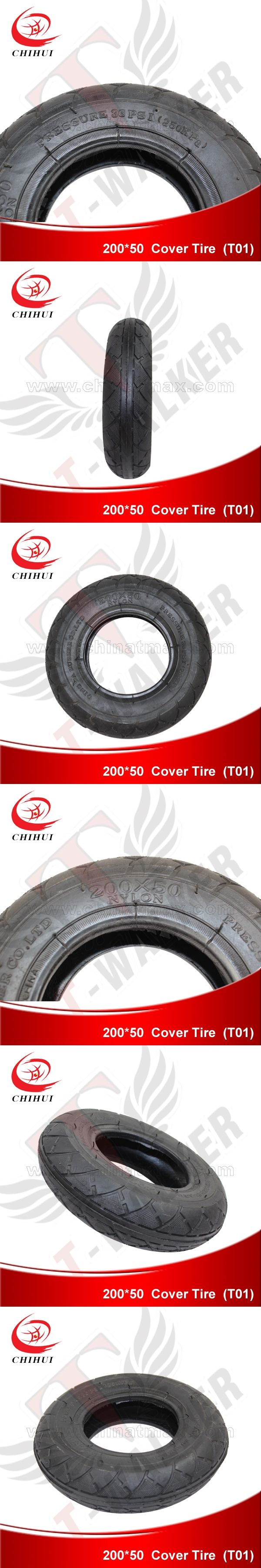Kids Electric Scooter Tires 200*50 (8inch )  Wheel Outer Tyre (Scooter Parts & Accessories)