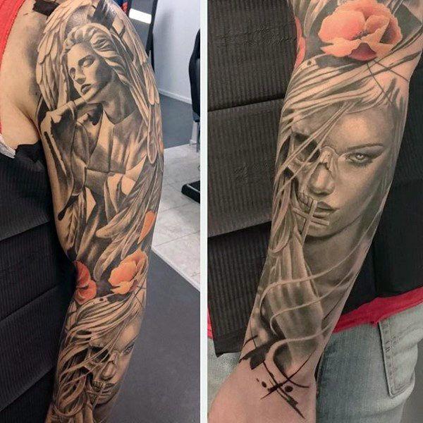 Top 103 Guardian Angel Tattoo Ideas 2020 Inspiration Guide Guardian Angel Tattoo Angel Tattoo For Women Angel Tattoo Designs