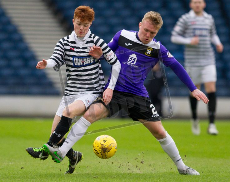 Queen's Park's Liam Brown on the ball during the SPFL League Two game between Queen's Park and East Fife.