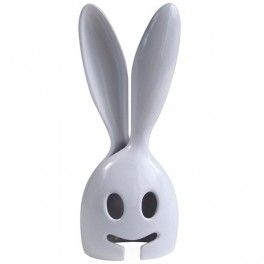 Salad Bunny - White Nr. kat.: OR8004  Łyżki do nakładania sałatek w kształcie białego królika.