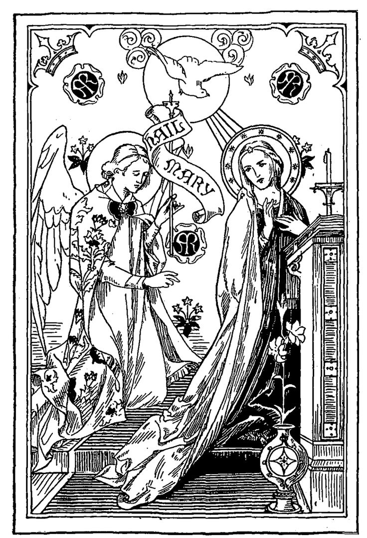 Catholic Crafts Kids Churches Santa Maria Blessed Virgin Mary Coloring Pages Madonna Advent Montessori