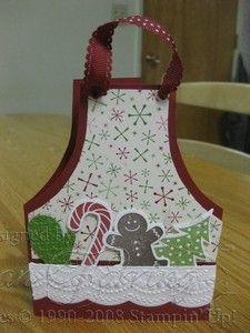 Christmas Holiday Apron Card-  free apron download
