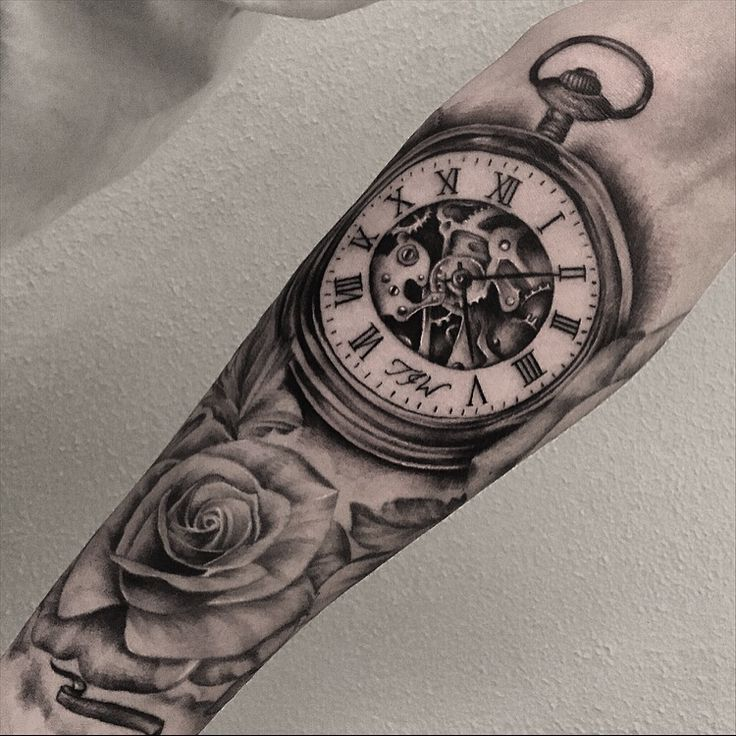 1135 best images about tattoo ideas on pinterest wolf tattoos american flag tattoos and full - Montre a gousset tatouage ...