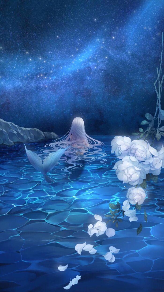 Clinging President My Girl I Want You Anime Mermaid Mermaid Wallpapers Real Mermaids