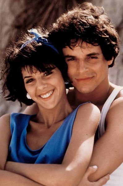 """Marisa Tomei, shown here with actor Christian LeBlanc, played Marcy Thompson on the soap opera """"As the World Turns"""" in 1984."""