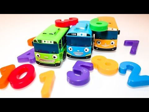 Learn Numbers 1-10 with Tayo the Little Bus - Toddler Learning Video 꼬마버스타요 숫자공부 영어공부 - YouTube