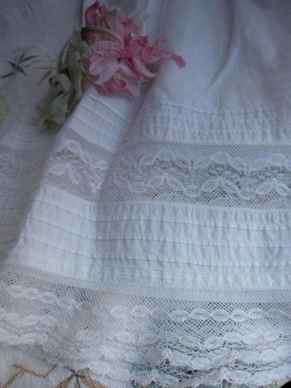 Antique Infant Gown, lace, christening