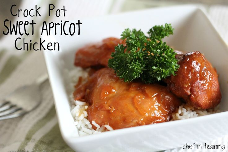 Crock Pot Sweet Apricot Chicken... Only 4 ingredients! Also a great freezer