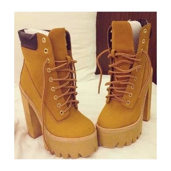 Shoes: boots wedges timberland heels brown socks timberland wedge... ❤ liked on Polyvore featuring shoes, boots, timberland shoes, high heel shoes, wedge sole boots, wedges shoes and brown boots