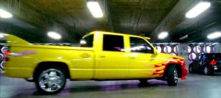 In Quentin Tarantino's film 'Kill Bill,' Uma Thurman, aka 'The Bride,' drives around in this bright yellow Chevrolet Silverado SS.