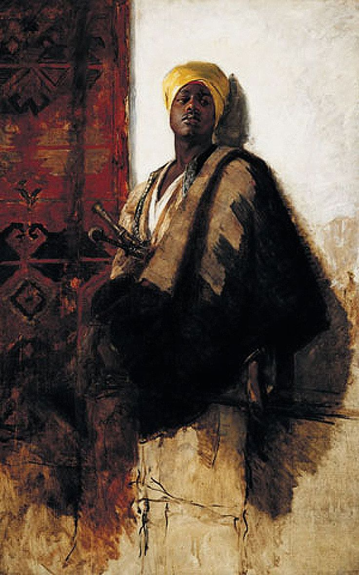 "Frank Duveneck - ""The Guard of the Harem"" (1880)    One of my all time favorite paintings"
