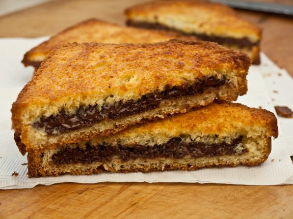 """Chocolate Paninis - You don't need a panini maker for this recipe. The word """"panini"""" simply means a toasted or pressed sandwich."""
