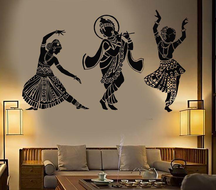 Vinyl Wall Decal Dance Indian Womans Devadasi Indian Dance School Hindu Stickers (774ig)