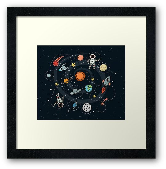 Outer Space Illustration by Gordon White | Framed Print Available @redbubble  --------------------------- #redbubble #sticker #framedprint #wallart --------------------------- http://www.redbubble.com/people/big-bang-theory/works/22569162-outer-space-planetary-illustration?asc=u&p=framed-print&rel=carousel