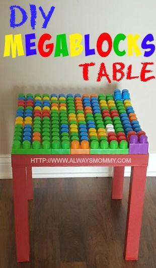 DIY MEGA BLOCKS TABLE