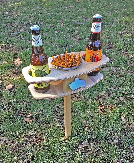 Outdoor Beer Table/ Collapsible Beer Table/ Beer Lover Gift/ Beer Bottle Holder/ FREE SHIPPING USA