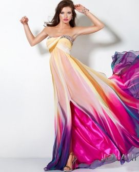 love ittttt   Multi Color DressPretty Dresses, Fashion, Style, Promdresses, Gowns, Beautiful Dresses, Prom Dresses, The Dresses, Bright Colors