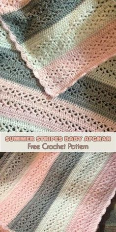 Summer Stripes Baby Afghan Free Crochet Pattern Crochet Baby