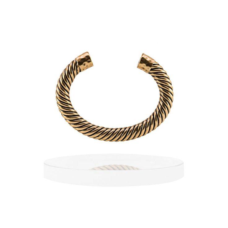 Atlantic Cable Cuff Bracelet - 14K Gold