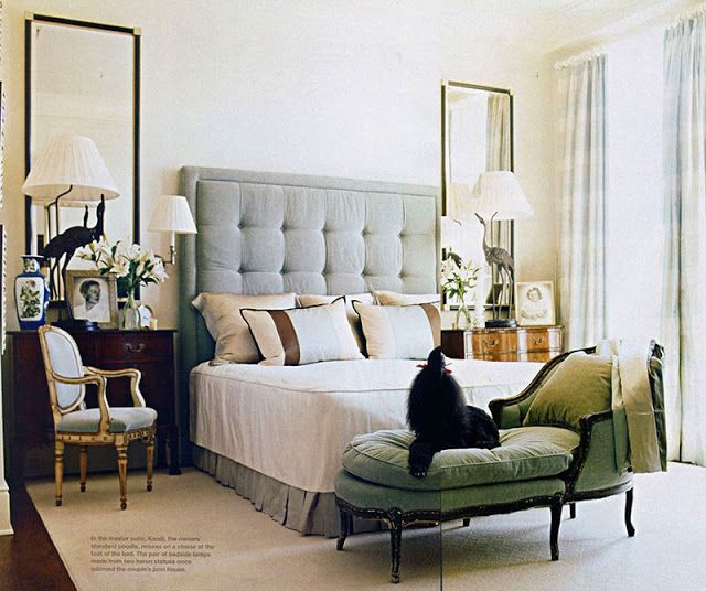 Decorate over nightstands instead of over bed. Love the idea of using mirrors.