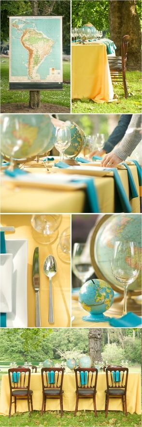 "Globe decor - beautiful ""going away"" or graduation party"