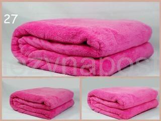 Kvalitní deka z mikrovlákna v růžové barvě