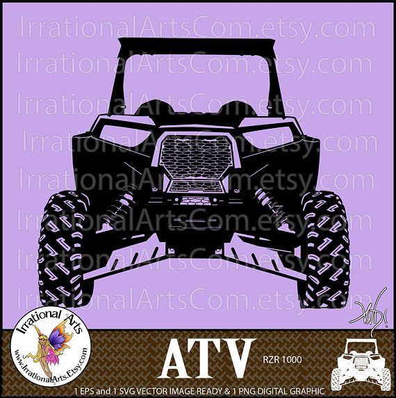 Atv Off Road Vehicle 2 Person 1 Eps Amp 1 Svg Vinyl Ready