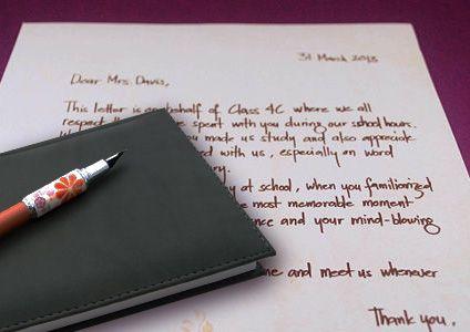 How to Write A Special Teacher Appreciation Letter   Teacher Gifts Ideas