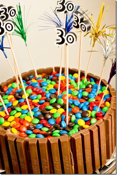 M&M Kit Kat Cake - a great special occasion cake that is super impressive but easier than you would expect!