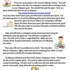 In this activity, students will pretend to be a newspaper reporter writing an article on an Olympic sport in the 2012 London Olympics.  Students wi...
