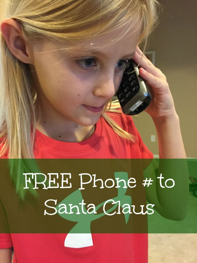 Here's a phone number to Santa! Call him for free and hear his message this holiday season!