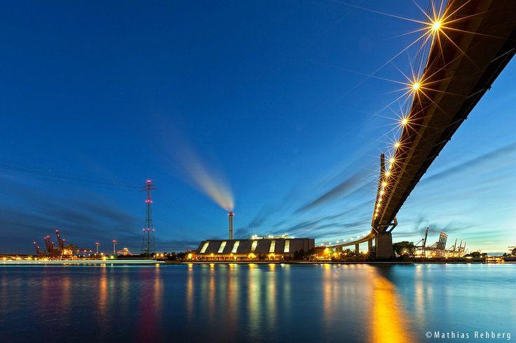 Köhlbrandbrücke, Elbe, Germany, Hamburg, Bridge