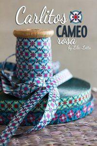 Ribbon Carlitos CAMEO Rosa - http://www.stationeryheaven.nl/ribbons