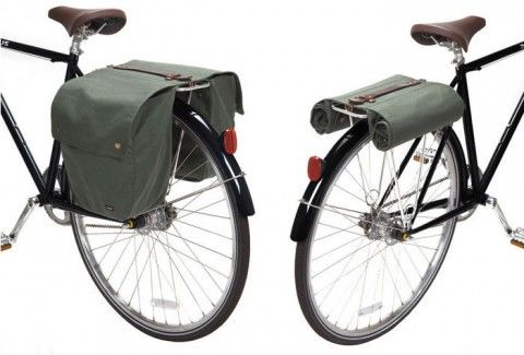 Way to keep it clean, Linus Bikes! This is a classic design made most notably and expensively by Brooks - known better for their high quality leather saddles. Linus offers a simplified waxed canvas version which might not be as resilient, but at half the cost, it's a good bet.