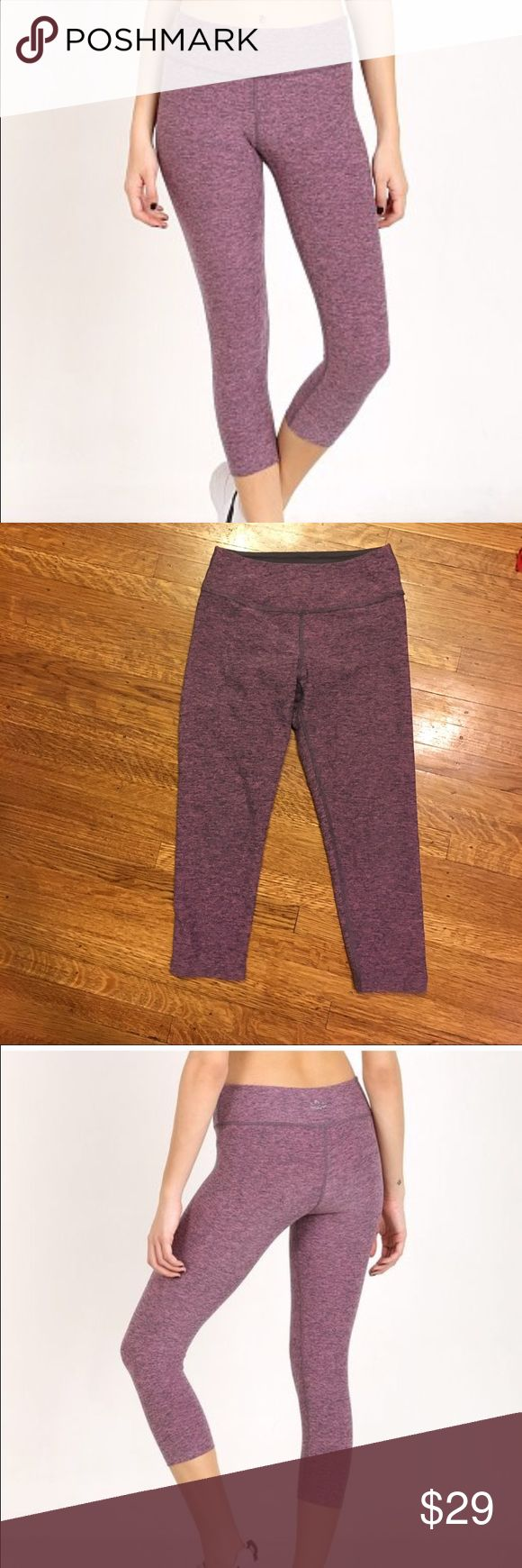 Beyond Yoga Pink Spacedye Capri Legging - XS Steel/Desert Rose color. In perfect condition - no pilling or any flaws. Super soft, well-constructed leggings that give you perfect fit and never lose their shape. No sag, no slip, no digging, perfect waistband! Features performance fabric that's quick drying, moisture wicking, and has 4-way stretch. Fabric: 90% Supplex 10% Lycra. Care: Wash cold. Beyond Yoga Pants Leggings
