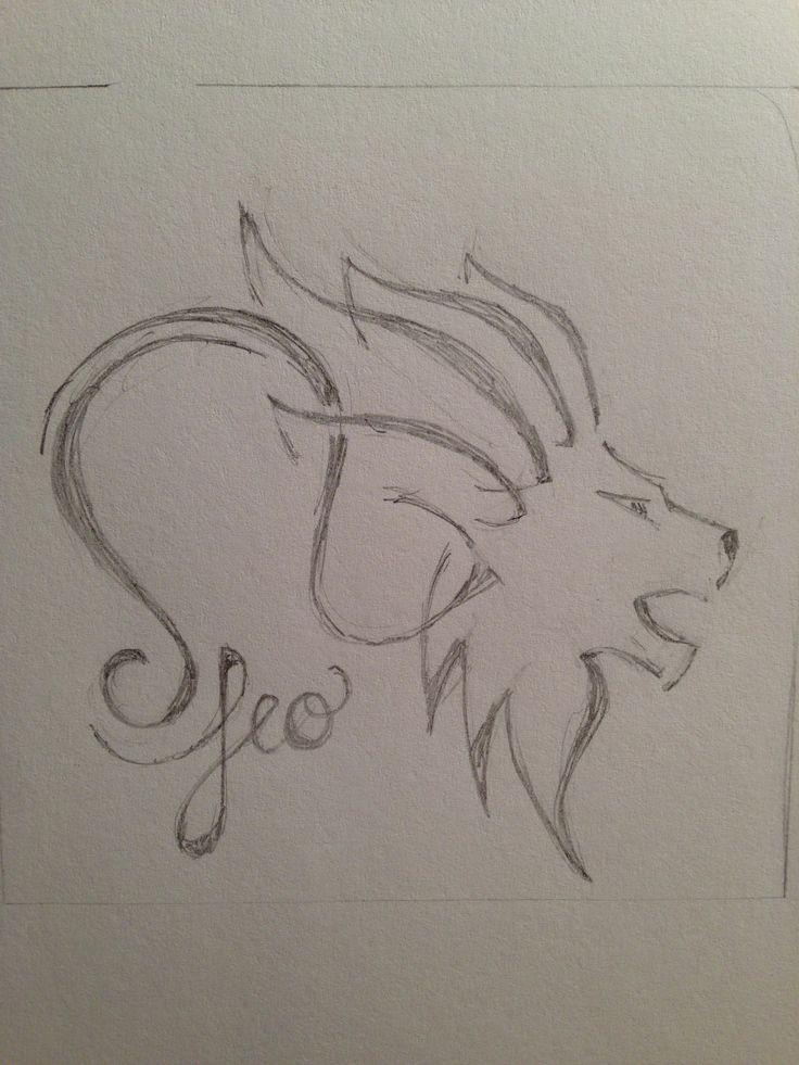 Leo for zodiac tattoo | Pencil Sketches | Pinterest | Lion ...