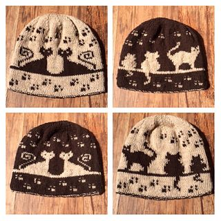 Herding Cats Double Knit Hat by Karen Buhr