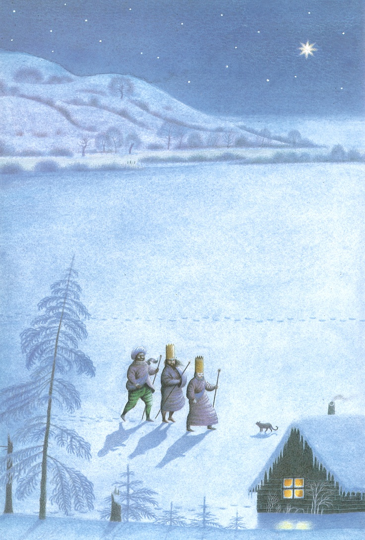 The Three Kings in a Christmas picture book by Jindra Capek