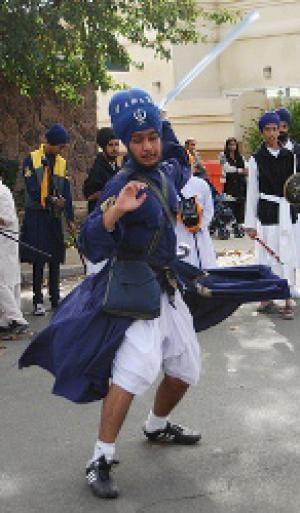 Chola - Warrior Attire: Chola Worn During a Gatka Demonstration