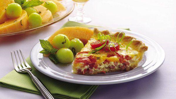 τάρτα με ζαμπόν, τυρί και τομάτα #Pillsbury #tart