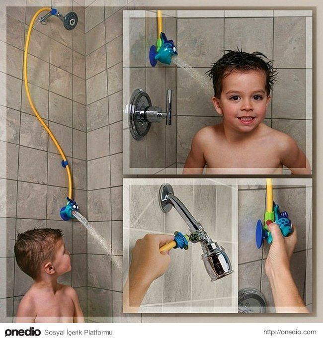 Çocuğunuz her seferinde kendi başına duş almak istiyor dimi?
