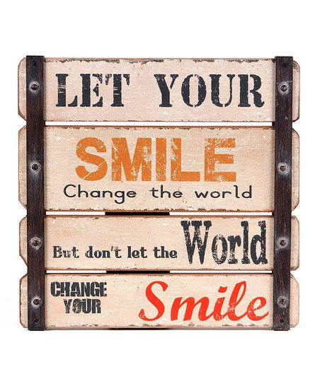 'Let Your Smile Change the World' Wall Art