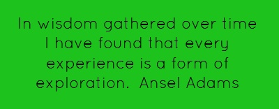 In wisdom gathered over time I have found that every...