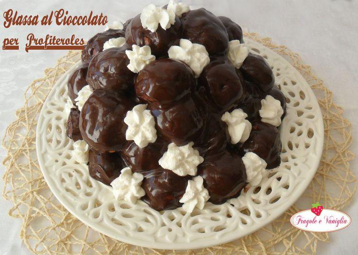Glassa al cioccolato per profiteroles