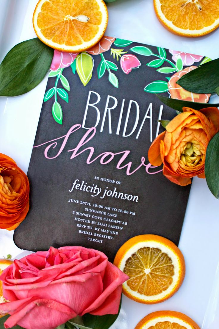 Citrus Chalkboard Bridal Shower With Shutterfly Invitations Are The Perfect Inspiration For