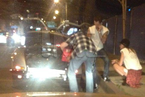 Too FunnY!!!   Adam Levine's Mercedes Breaks Down With Behati Prinsloo | Photo 1 | TMZ.com