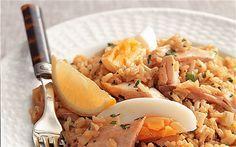 salmon kedgeree - Recipes for one: salmon kedgeree