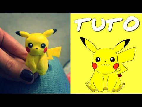 TUTO FIMO   Pikachu (de Pokémon) - YouTube